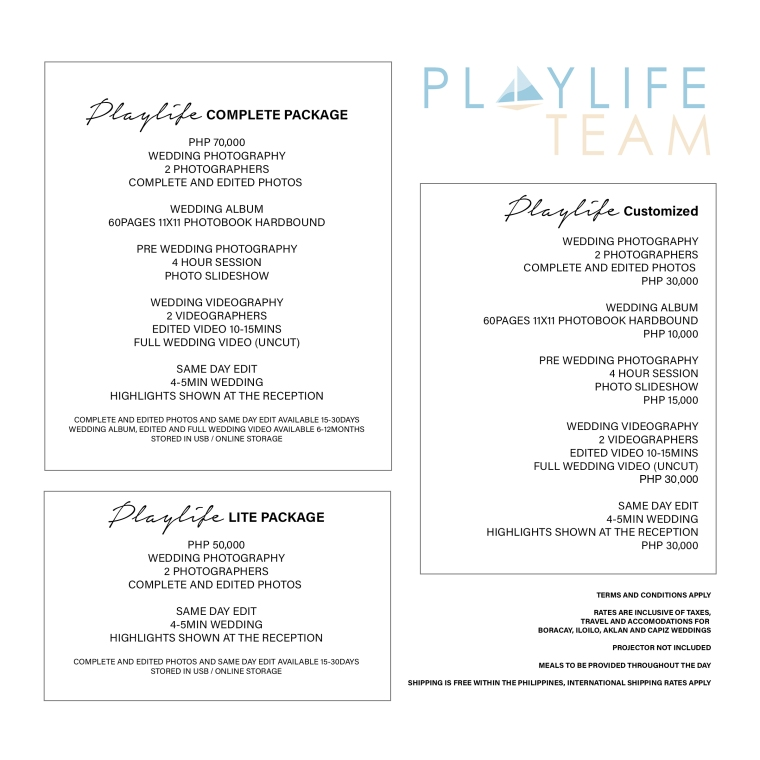 playlife rates 2019